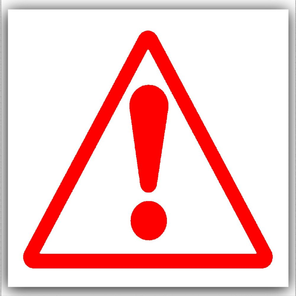 1 x caution warning danger symbol red on white external self rh shop4stickers co uk caution logicorehsv silkroad caution logo png